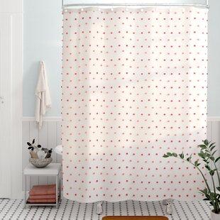 Alvaro Colorful Dot Shower Curtain ByViv + Rae