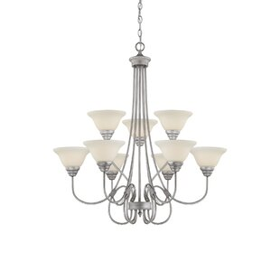 Fleur De Lis Living Aliza 9-Light Shaded Chandelier