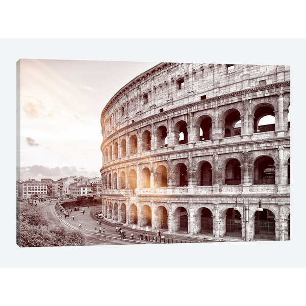 East Urban Home Dolce Vita Rome Ray Of Light Collection The Colosseum By Philippe Hugonnard Graphic Art Print On Wrapped Canvas Wayfair