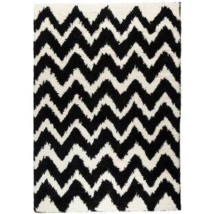 Affordable Reynolds Chevron Black Rug ByEbern Designs