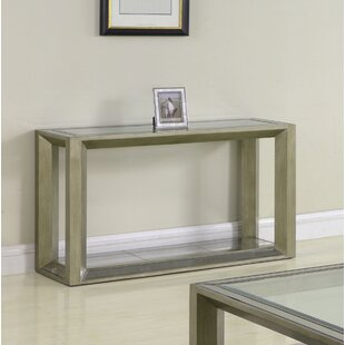 Everly Quinn Laury Glass Console Table
