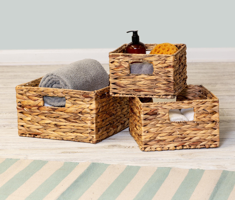 Rebrilliant Charlette 3 Piece Wicker Rattan Basket Set Reviews Wayfair