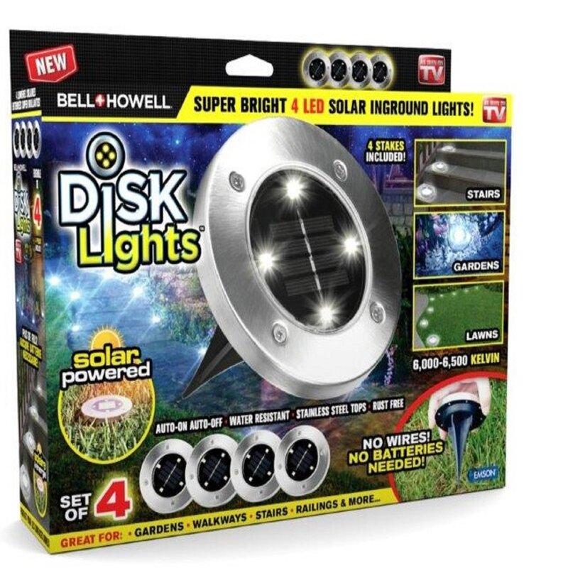 33cb7eca6265 Bell & Howell Disk Solar Powered LED Well Light Pack & Reviews | Wayfair