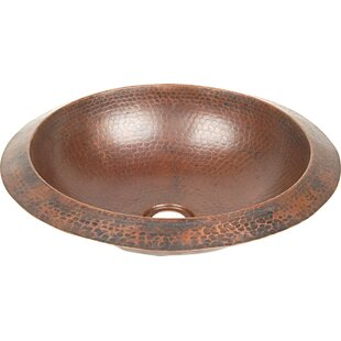 Inexpensive Copper Bathroom Sinks Metal Circular Undermount Bathroom Sink By D'Vontz