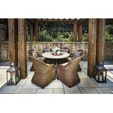 Wynwood 7 Piece Dining Set with Sunbrella Cushions