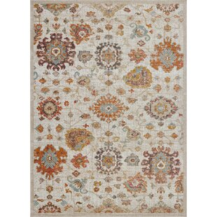 Jimena Marigold Ornamental Beige Indoor/Outdoor Area Rug