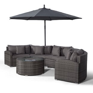Woody 5 Seater Rattan Conversation Set Image