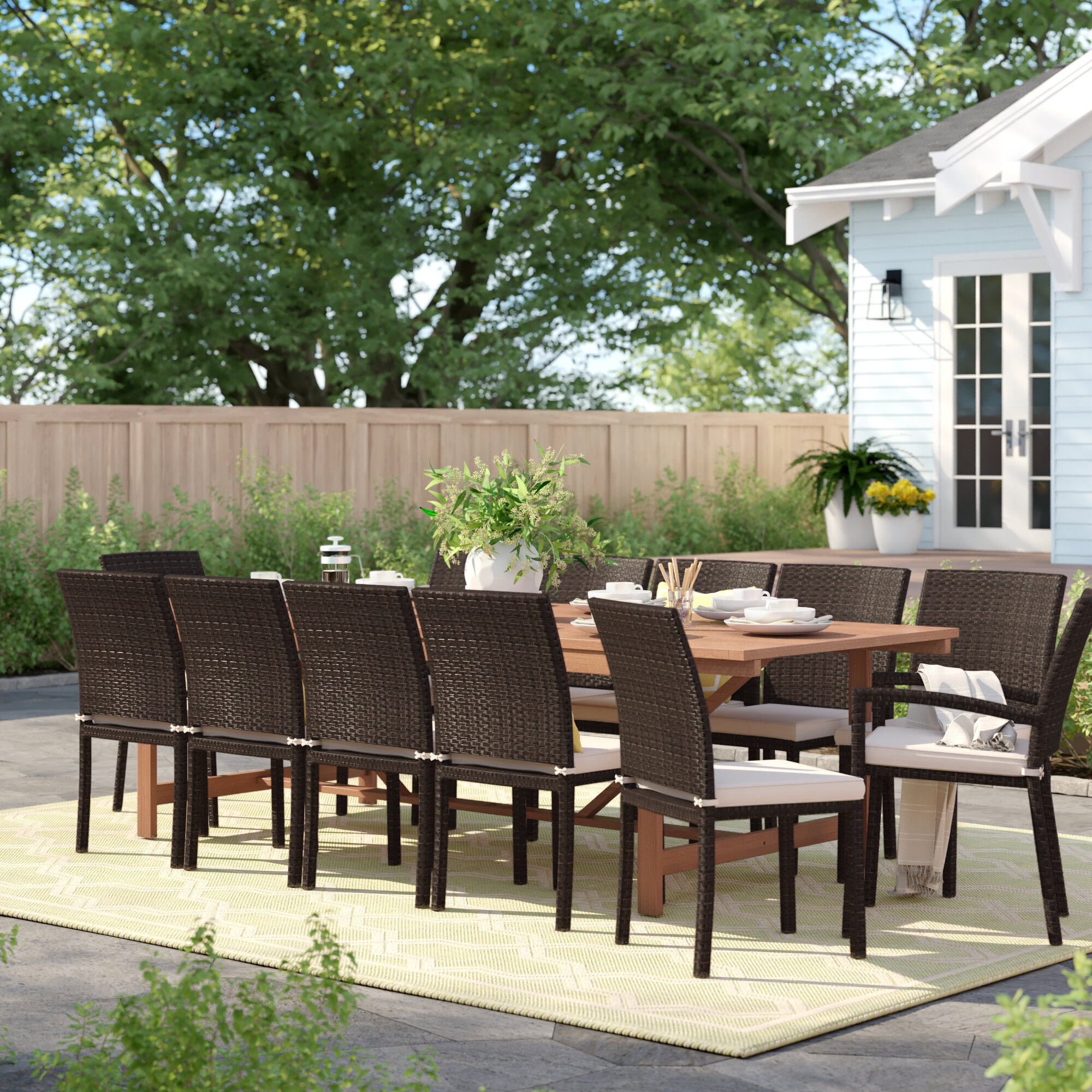 Rustic Patio Dining Sets You Ll Love In 2021 Wayfair