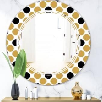 East Urban Home Geometric Block Modern Contemporary Accent Mirror Wayfair