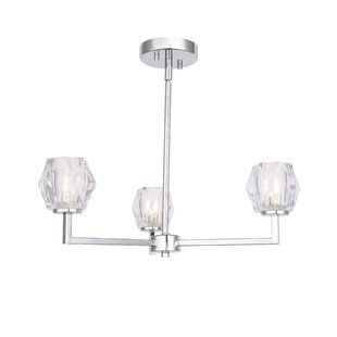 Street 3-Light Shaded Chandelier by House of Hampton
