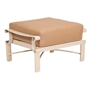 Bungalow Ottoman with Cushion by Woodard