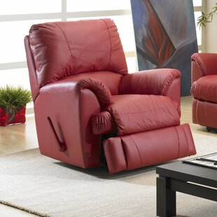 Mylaine Leather Manual Rocker Recliner