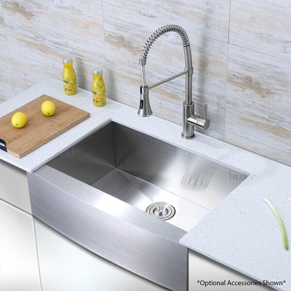 Luxier Luxury Handmade 30 L X 21 W Farmhouse Kitchen Sink Reviews Wayfair