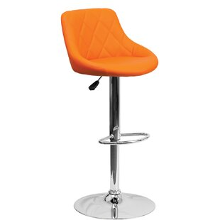 Thaddeus Adjustable Height Bar Stool Orren Ellis