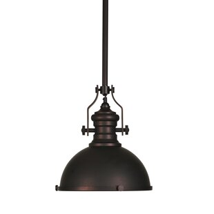 Zentique Retro 1-Light Dome Pendant