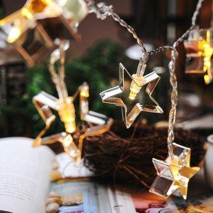 Shopping for 10-Light 5.5ft Star String Lights By Festival Depot