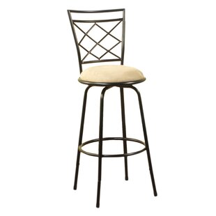 Lamoille Adjustable Height Swivel Bar Stool (Set of 3) by Red Barrel Studio