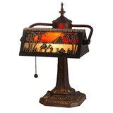 """Camel Mission 16"""" Banker Lamp"""