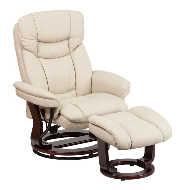Inga Manual Swivel Glider Recliner With Ottoman  sc 1 st  Wayfair : glider recliner ottoman - islam-shia.org