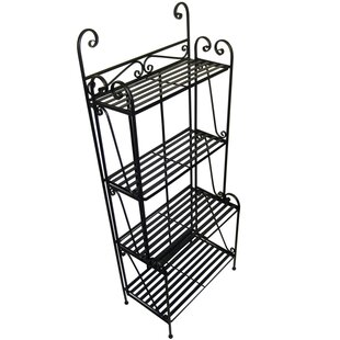 Pangaea Home and Garden Folding Piper Iron Baker's Rack