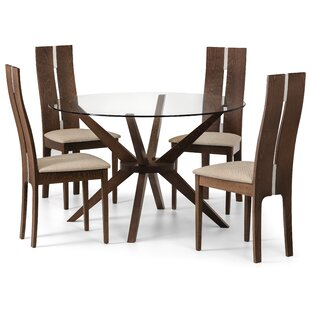 Review Tachevah Dining Set With 4 Chairs