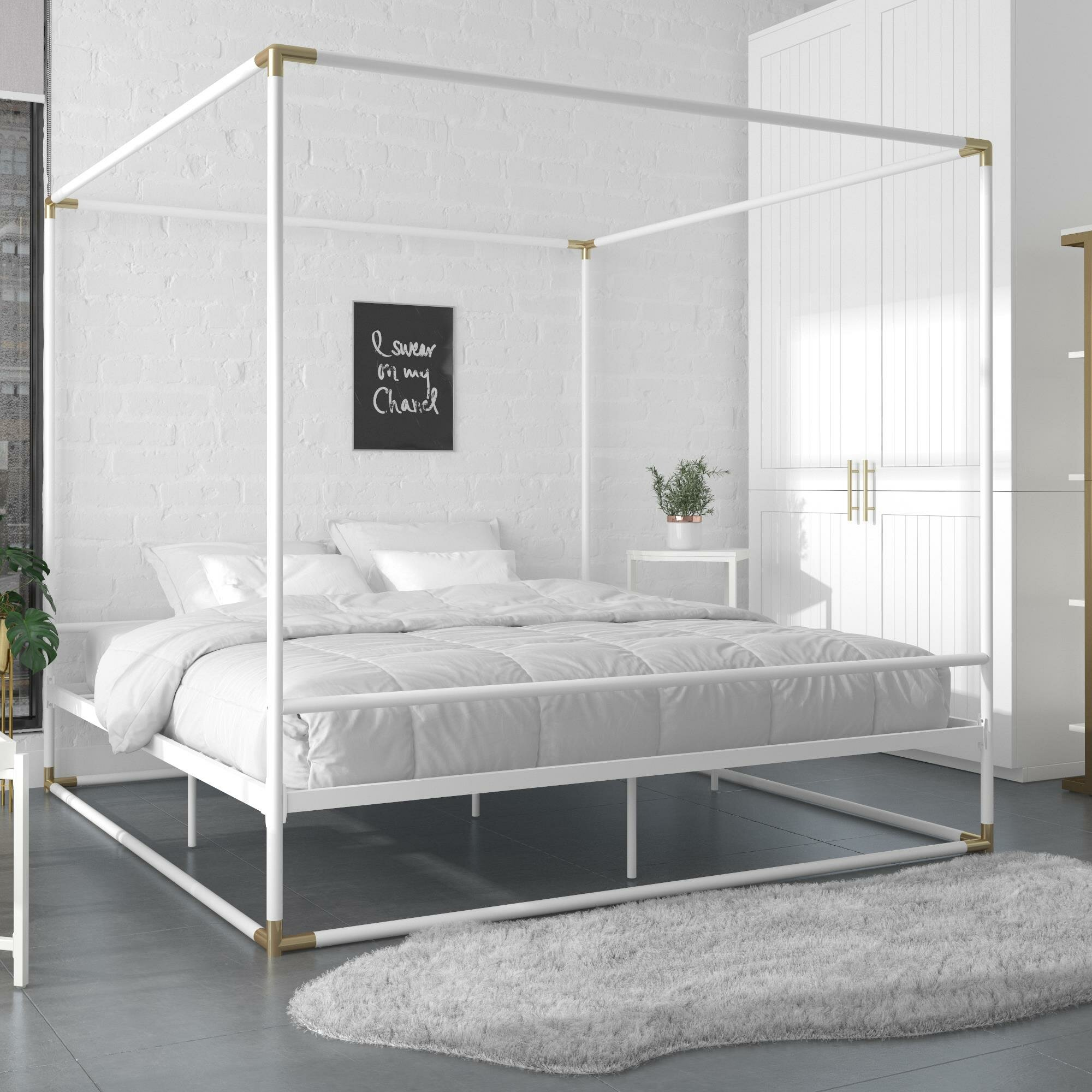 - Celeste Metal Canopy Bed & Reviews AllModern