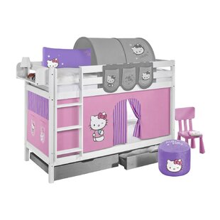 Clearbrook European Single Bunk Bed With Curtain By Zoomie Kids