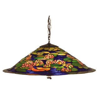 Tiffany Pond Lily 3-Light Pendant by Meyda Tiffany
