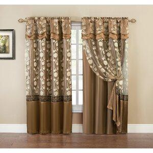 Arlingham Semi-Sheer Rod Pocket Single Curtain Panel
