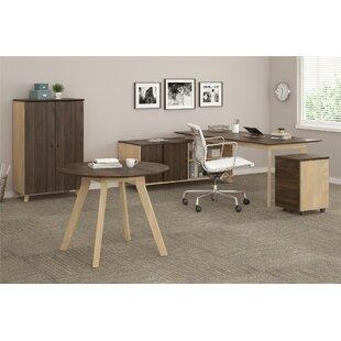 Ivy Bronx Barbosa Executive 4 Pieces L-Shape Desk Office Suite