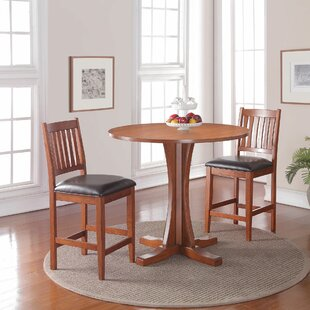 Fort Kent 3 Piece Pub Table Set by Loon Peak