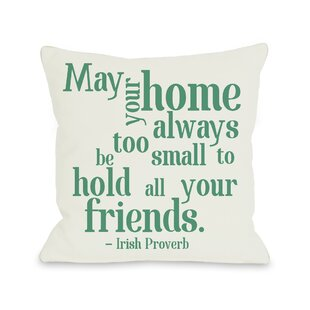 Home Irish Proverb Throw Pillow