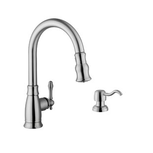Pull Down Single Handle Kitchen Faucet with Dispenser