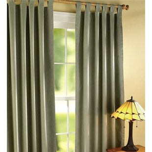 Thermalogic Energy Efficient Insulated Solid Room Darkening Thermal Tab Top Curtain Pair