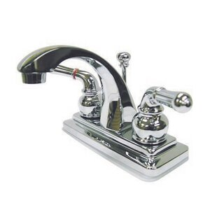 Kingston Brass Naples Centerset Bathroom Sink Faucet with Brass Pop-up Image