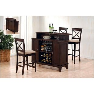 Gutirrez Bar Set with Wine Storage
