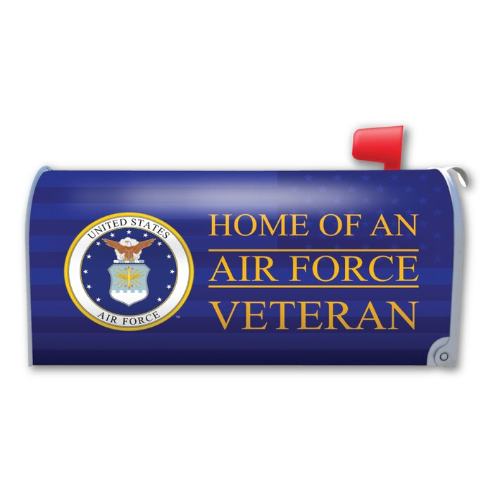 Home of an Air Force Veteran Mailbox Cover