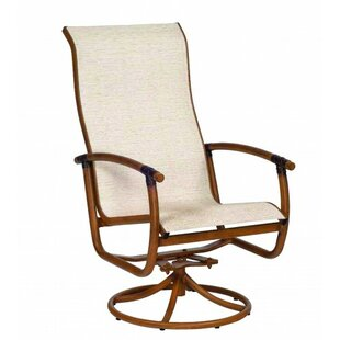 Glade Isle Sling High Back Rocker Swivel Patio Dining Chair by Woodard