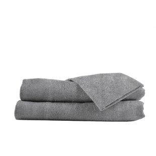 Belle Epoque Heather Flannel Sheet Set in Gray