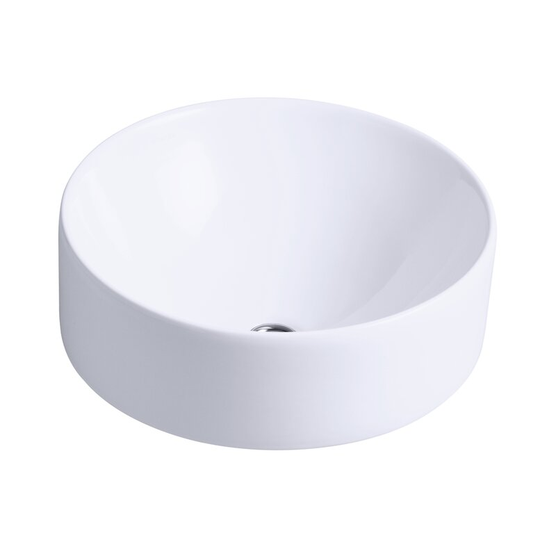 Vox Ceramic Circular Round Vessel Bathroom Sink #vesselsink #roundsink #bathroomsink