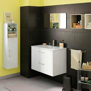 Read Reviews Holle 32 Wall-Mounted Single Bathroom Vanity Set with Mirror ByOrren Ellis