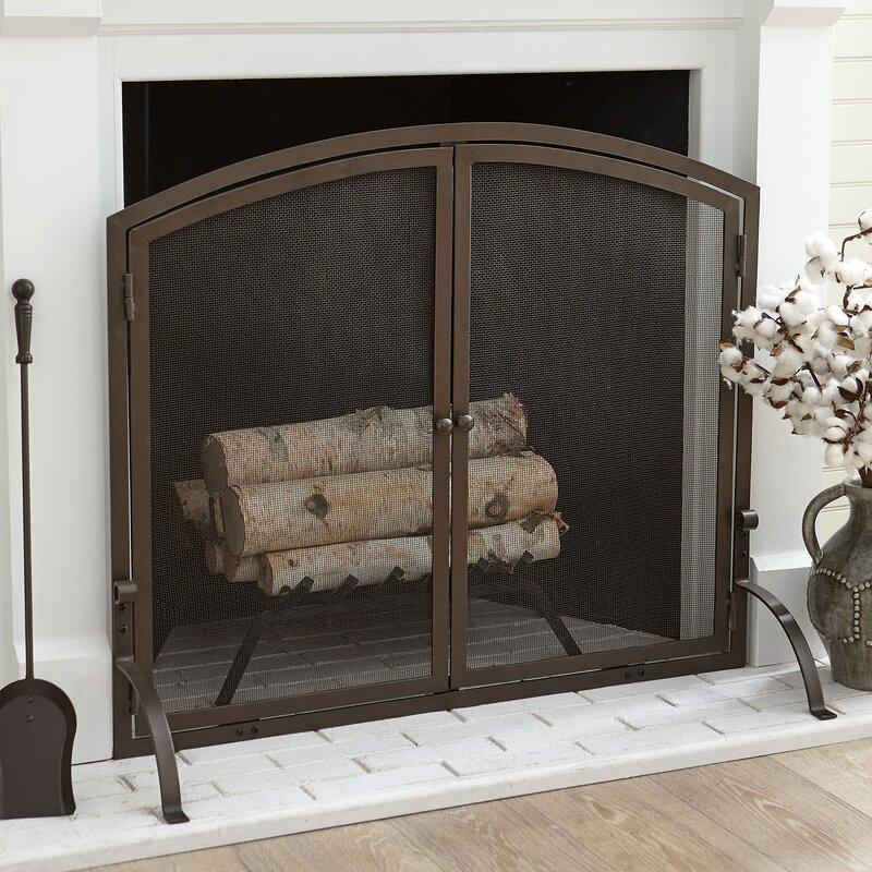 Birch Lane™ Chambers Single Panel Fireplace Screen & Reviews | Wayfair