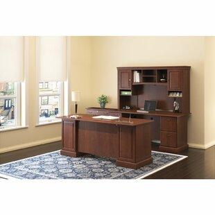 Bush Business Furniture Syndicate Double Pedestal 3 Piece Desk Office Suite