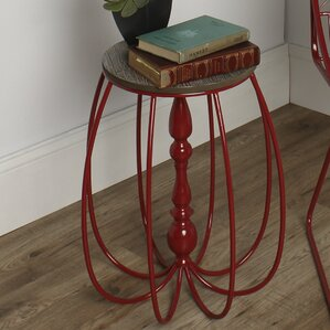 Tenterden Metal/Wood End Table by Kate and Laurel