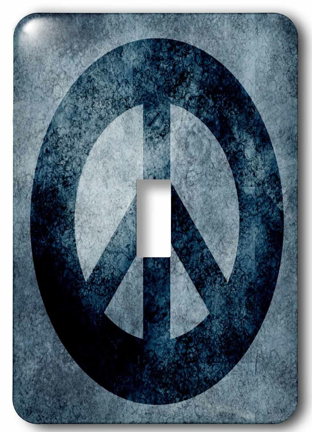 3drose Grunge Peace Sign 1 Gang Toggle Light Switch Wall Plate Wayfair