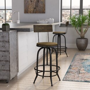 Stockbridge Adjustable Height Swivel Bar Stool Trent Austin Design