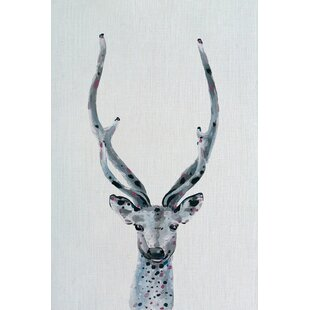 'Long Horns' Print on Canvas