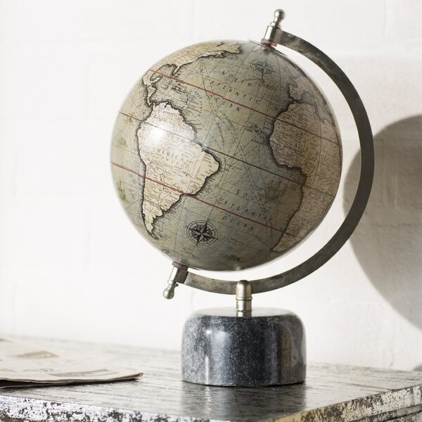 Trent Austin Design Globe With Marble Base Amp Reviews Wayfair
