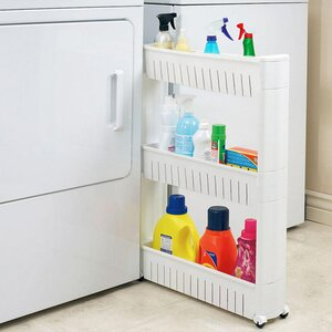 Narrow Sliding Storage Organizer Rack