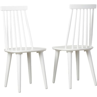 Fantastic George Oliver Clarence Solid Wood Dining Chair Finish White Pdpeps Interior Chair Design Pdpepsorg